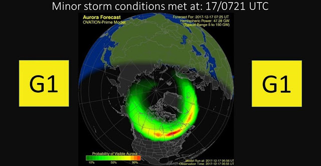 minor geomagnetic storm hits earth