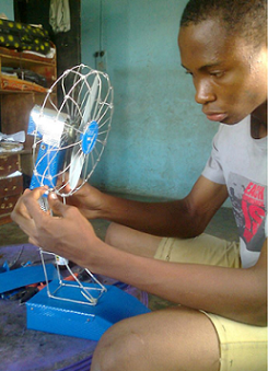 igbo boy making fans aba abia state