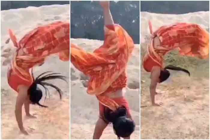 'Indian Women Are Superwomen': Woman Performs Impressive Backflips in a Saree & Stuns The Internet | Watch Viral Video, Mumbai, News, Lifestyle & Fashion, Social Media, Woman, Video, National