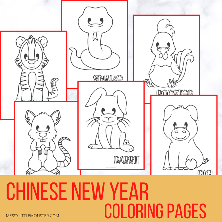 Chinese New Year Coloring Pages & Activities - Messy Little Monster