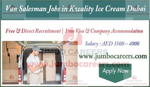 Salary details and benefits of van salesman jobs UAE, Latest salesman jobs in UAE,