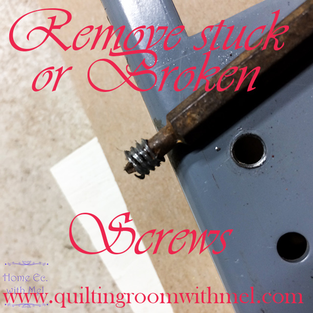 how to remove stuck or broken screws on vintage sewing machines the quilting room with mel. Black Bedroom Furniture Sets. Home Design Ideas