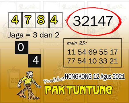 Syair HK Kamis 12 Agustus 2021 -