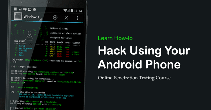 Learn How to Use Your Android for Hacking and Penetration Testing