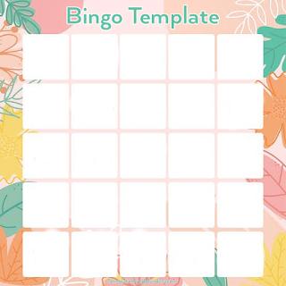 Contoh template Bingo Challange Instagram