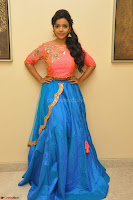Nithya Shetty in Orange Choli at Kalamandir Foundation 7th anniversary Celebrations ~  Actress Galleries 016.JPG