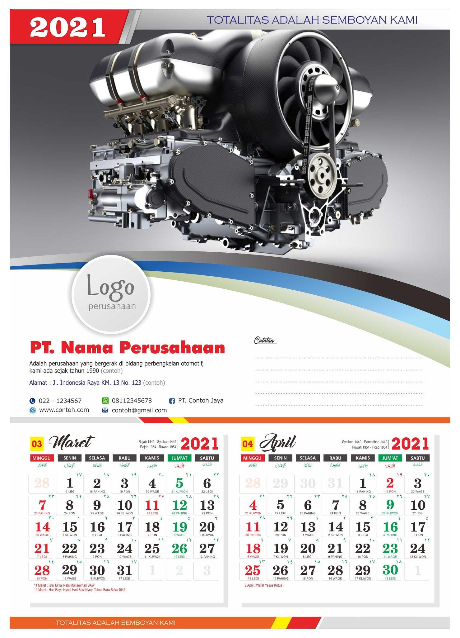 Download Templat desain Kalender 2021 lengkap penanggalan ...
