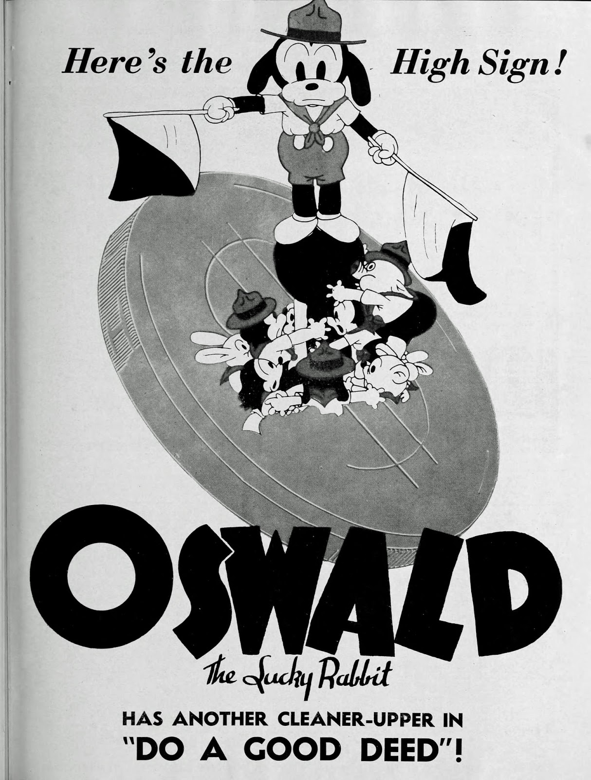 30s poster design - One Isn T Actually For Oswald But Has A Rabbit Design Similar To What Oswald Ended Up Looking Like In The Later 30s