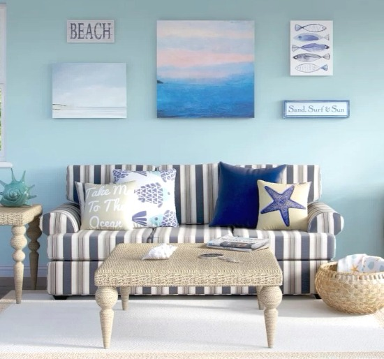 Surprising Beach Striped Sofa Wayfair Beach Home Decor Design Beatyapartments Chair Design Images Beatyapartmentscom