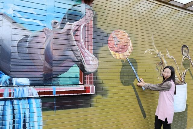 益得食品・畑の菓~宜蘭三星觀光工廠、3D彩繪牆