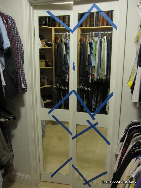 Remodelaholic | DIY Mirrored Closet Door Makeover