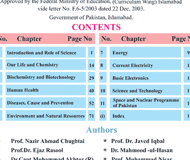 9th and 10th class general science book in English pdf