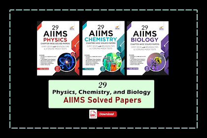 [PDF] Disha 29 AIIMS Physics, Chemistry & Biology Chapter-wise Solved Papers & 3 Mock Online Tests
