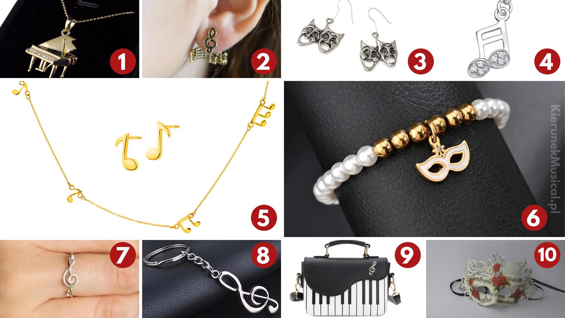 biżuteria dla fanów muzyki i teatru