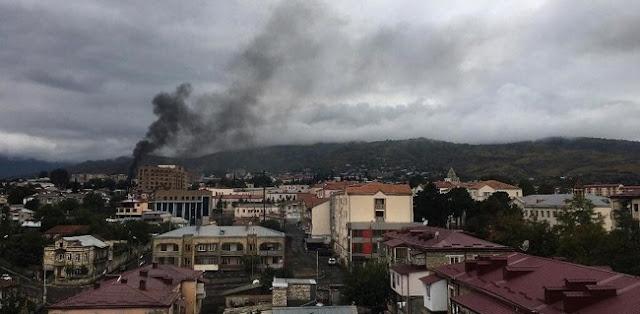 Pertempuran Sengit Nagorno-Karabakh Berlanjut, Azerbaijan Serang Kota Stepanakert