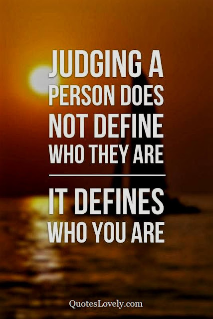 Judging a person