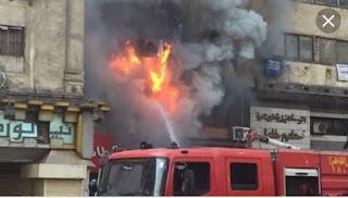 """إصابة ربة منزل في """"حريق شقة"""" سكنية """"بشارع أبو سبيحة"""" بمنطقة الصاغة القديمة بالفيوم"""