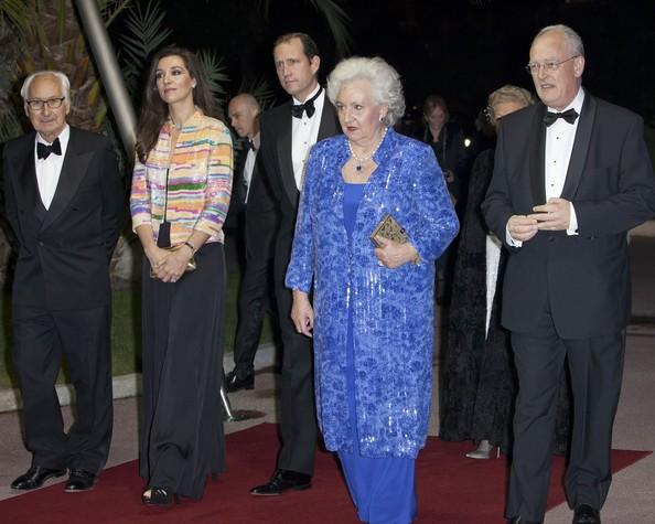Prince Albert, Princess Charlene (Charlene Wittstock), Elisabeth de Massy, Mélanie de Massy, Barbara Cano and Infanta Pilar