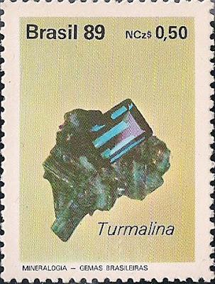 Turmalina. Brasil, 1989. Colección filatélica de Pedro Fandos Rodríguez