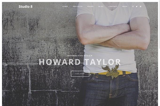 Download Theme Portfolio - Studio 8 Theme Wordpress