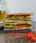 Crispy Aubergine Sandwich - Keto Vegan Recipe