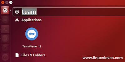Open TeamViewer via Unity Dash Ubuntu 16.04 LTS Xenial Xerus