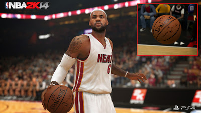 NBA 2K14 Next-Gen vs Modded Current-Gen Ball