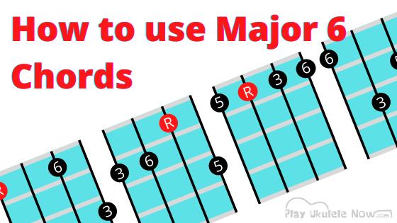 Ukulele Chords and how to use them: Major 6