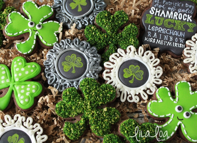 How To Make Decorated Chalkboard Frame Cookies for St. Patrick's Day ~ Tutorial