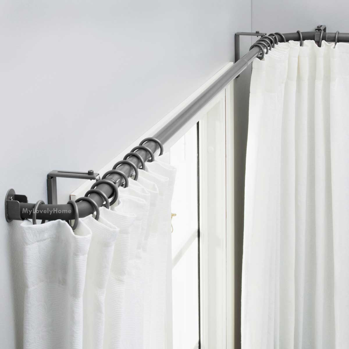 L Shape Window Curtain Rod Ideas And How It Made My Lovely