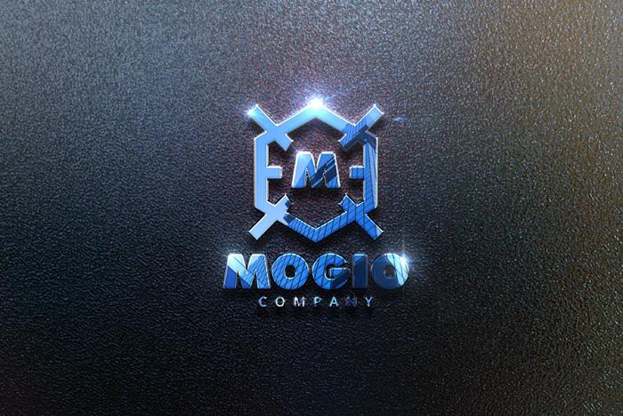 Realistic Mockup Logo Sparkle And Reflection