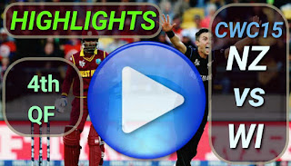 NZ vs WI 4th QF Match