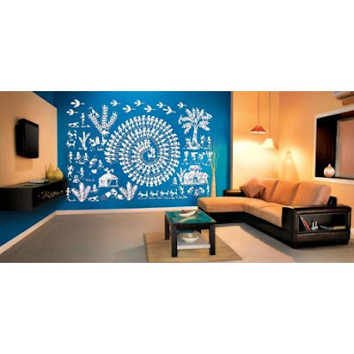 Warli village wall decal