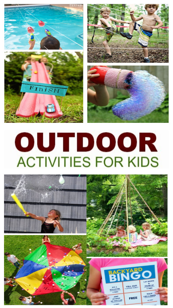 50+ super fun ways for kids to play outside!  The best collection of games, crafts, water activities, and more! #outdooractivitiesforkids #outdooractivities #outdoorart #outdoorartprojectsforkids #backyardplay #backyardactivitiesforkids #summeractivities #summeractivitiesforkidsathome #growingajeweledrose #activitiesforkids