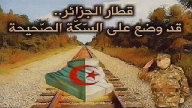 قطار الجزائر قد وضع على السكة الصحيحة