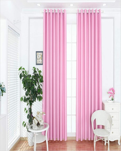 pink light blocking panel curtains