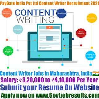 PayGate India Private Limited Senior Content Writer Recruitment 2021-22