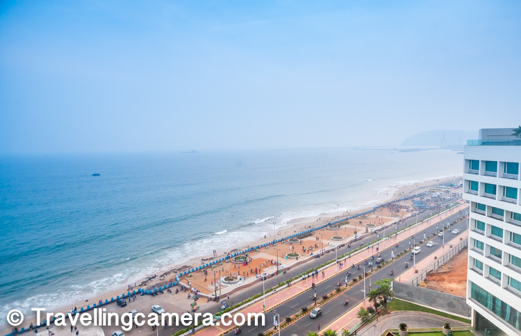 Interesting part is that the road in front of the hotel is almost straight and long, so it offers great views of the ocean, beaches and Dolphin's nose hill on the right side of the Marriott hotel.     Also check out - Lighthouse on Dolphin's Nose hill - A must visit place for Brilliant views of Vizag Ports & Beaches