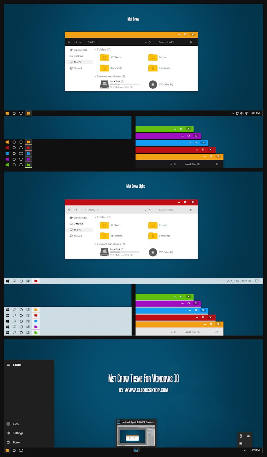 Met Crow Theme For Windows10 2004