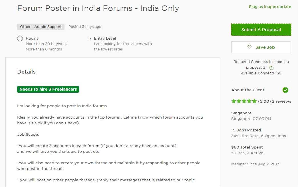 Upwork Cover Letter Sample For Forum Posting - Upwork Help