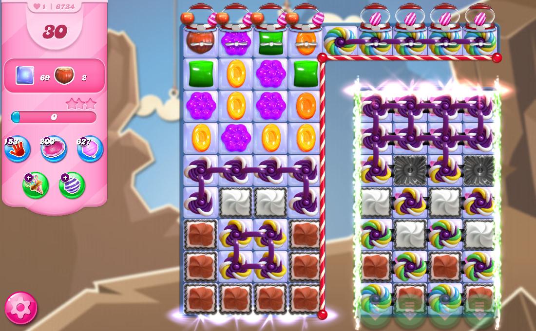 Candy Crush Saga level 6734