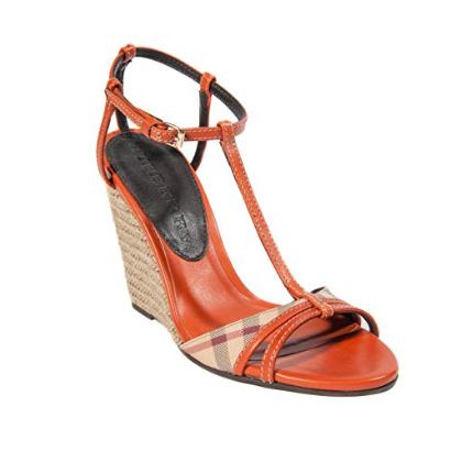 Chaussures compensées pas cher, sandales d'été femmes marque burberry