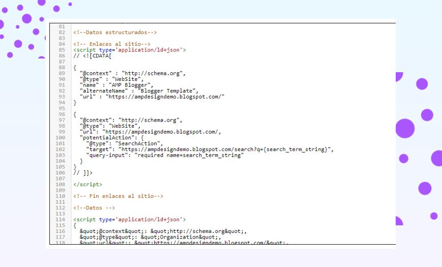 ¿Cómo configurar los datos estructurados de mi blog de Blogger en AMP?