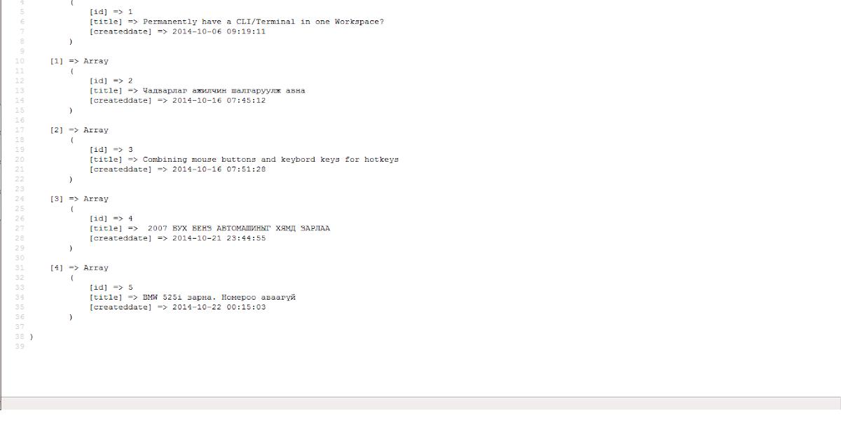 Software Developer's Bookmark: php codeigniter html pivot table example