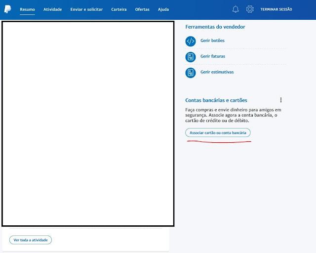 Como associar um cartão de crédito ou MBnet no Paypal?