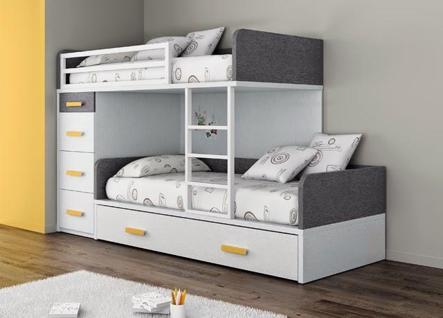 Camas triples amueblar un dormitorio para tres for Camas nido triples precios