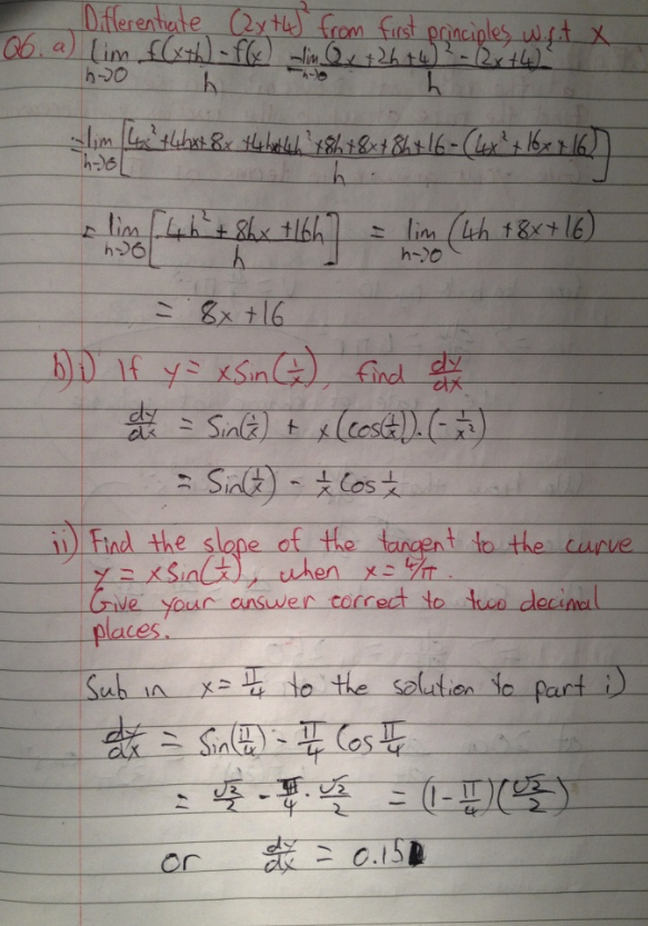 Leaving Cert Project Maths Paper 1 Solutions 9