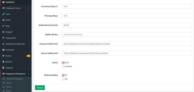 Integrasi Payment Gateway Duitku di Kitabantu