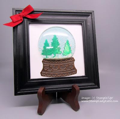 Framed Snowglobe Shaker Home Decor item