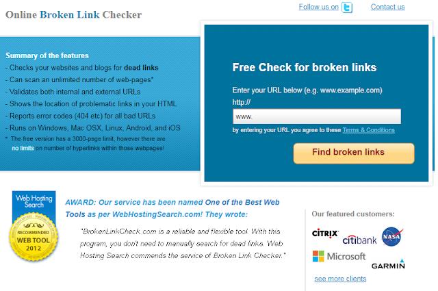 broken link solution